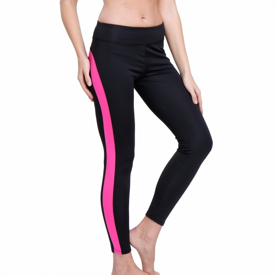 Wholesale Yoga Custom Stripped High Waist Gym Bike Pants Yoga Gym Leggings